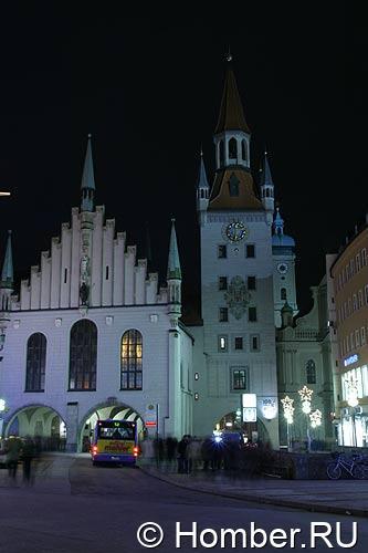 Вечерний Мюнхен. Старая ратуша