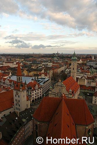 Вид на Мюнхен с высоты птичьего полёта